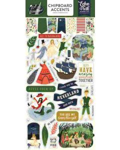 """Lost in Neverland 6"""" x 13"""" Chipboard Accents - Echo Park"""