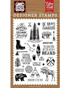Be Brave Stamp Set - Little Lumberjack - Echo Park