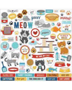 I Love My Cat Element Stickers - Echo Park