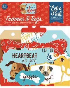 I Love My Dog Frames & Tags - Echo Park