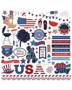 Land of the Free Element Stickers - Becky Fleck - PhotoPlay
