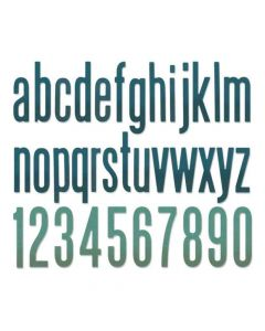 Alphanumeric Classic Lower Thinlits Dies - Tim Holtz - Sizzix