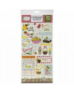 """I Love Spring 6"""" x 13"""" Chipboard Accents - Echo Park"""