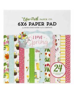 "I Love Spring 6"" x 6"" Paper Pad - Echo Park"