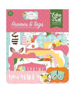 I Love Spring Frames & Tags - Echo Park