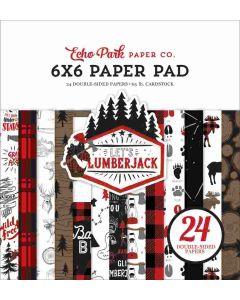 """Let's Lumberjack 6"""" x 6"""" Paper Pad - Echo Park"""