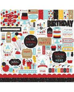 Magical Birthday Boy Element Stickers - Echo Park