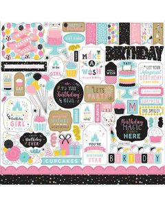 Magical Birthday Girl Element Stickers - Echo Park