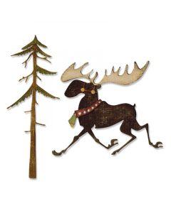 Tim Holtz Merry Moose Sizzix Dies