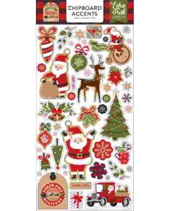 """My Favorite Christmas 6"""" x 13"""" Chipboard Accent Stickers - Echo Park"""