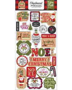 "My Favorite Christmas 6"" x 13"" Chipboard Phrase Stickers - Echo Park"