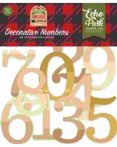 Gold Foil Decorative Numbers - My Favorite Christmas - Echo Park