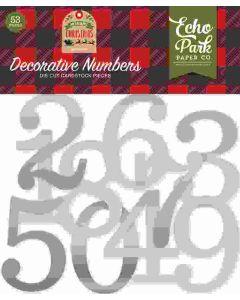 Silver Foil Decorative Numbers - My Favorite Christmas - Echo Park