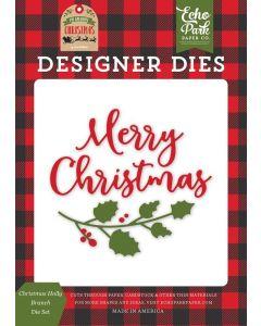 Christmas Holly Branch Die Set - My Favorite Christmas - Echo Park