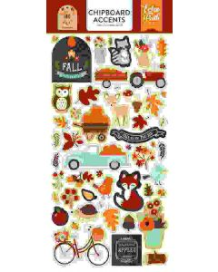 """My Favorite Fall 6"""" x 13"""" Chipboard Accent Stickers - Echo Park"""