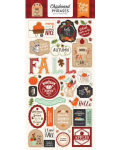 "My Favorite Fall 6"" x 13"" Chipboard Phrase Stickers - Echo Park"