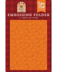 Pumpkin Patch Embossing Folder - My Favorite Fall - Echo Park
