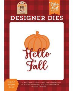 Hello Fall Pumpkin Die Set - My Favorite Fall - Echo Park - Clearance
