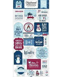 "My Favorite Winter 6"" x 13"" Chipboard Phrase Stickers - Echo Park"