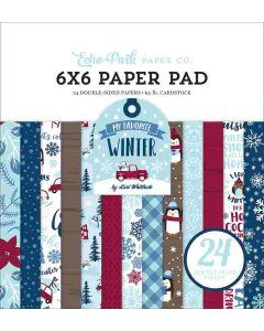 "My Favorite Winter 6"" x 6"" Paper Pad - Echo Park"