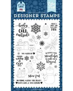 You Warm My Heart Stamp Set - My Favorite Winter - Echo Park