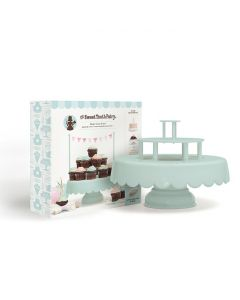 Mint cupcake and cake stand by Sweet Tooth Fairy