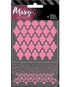 Round Moxy Stencils