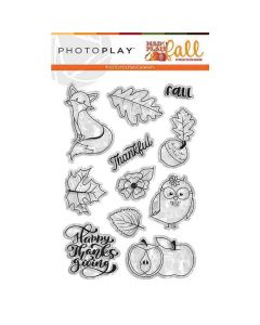 Mad 4 Plaid Fall Stamps - Becky Fleck Moore - PhotoPlay