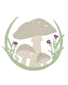 Mushroom Wreath Thinlits Die - Jessica Scott - Sizzix