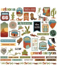 Grand Canyon Sticker Sheet - Becky Fleck Moore - PhotoPlay