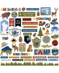 Yellowstone Sticker Sheet - Becky Fleck Moore - PhotoPlay