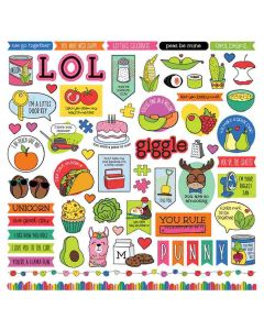 No Pun Intended Element Stickers - Becky Fleck - PhotoPlay