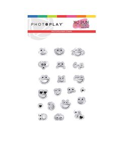 Smiley Faces Stamps - No Pun Intended - Becky Fleck - PhotoPlay