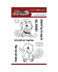 Beaver Hockey Stamps - O Canada 2 - PhotoPlay*