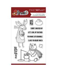 Moose & Bear Stamps - O Canada 2 - PhotoPlay*