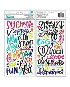 Vicki Boutin Puffy Phrase Stickers