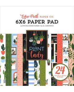 """Plant Lady 6"""" x 6"""" Paper Pad - Echo Park"""