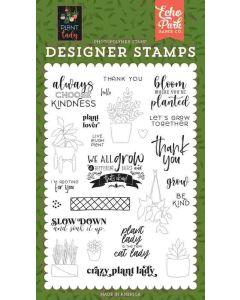 Plant Lover Stamp Set - Plant Lady - Echo Park