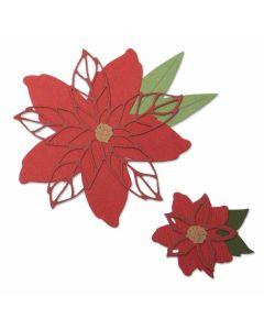 Poinsettia Thinlits Die Set - Lisa Jones - Sizzix