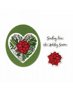 Poinsettia Wreath die and Stamp Set