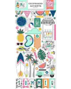 Pool Party Chipboard Accents - Echo Park*