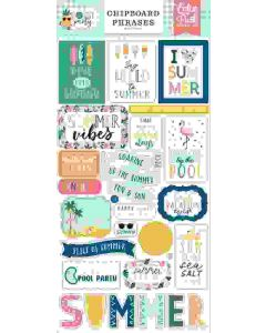 Pool Party Chipboard Phrases - Echo Park*
