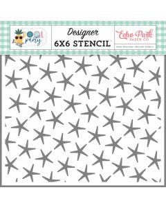 Summer Starfish Stencil - Pool Party - Echo Park*