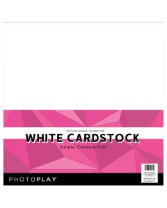 "White 12"" x 12"" Cardstock - Maker's Series - PhotoPlay"