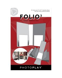 "Folio3 Interactive Album Kit, White, 4.5"" x 8.5"" - PhotoPlay*"