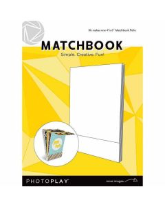 "Maker's Series Matchbook (4"" x 6"", White) - PhotoPlay"