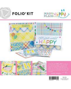 Mad 4 Plaid Happy Folio Kit - Maker's Series - PhotoPlay