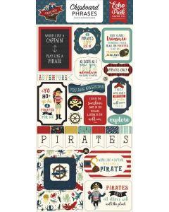 Echo Park Chipboard Phrase Stickers