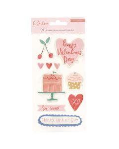 La La Love Puffy Stickers