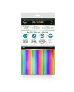 Rainbow Deco Foil Sheets